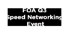 FOA Speed networking