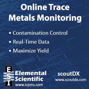 online trace materials monitoring